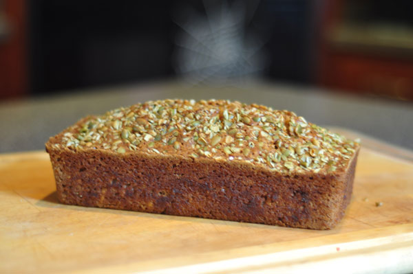 Pumpkin-Loaf-with-Pepitas-topping