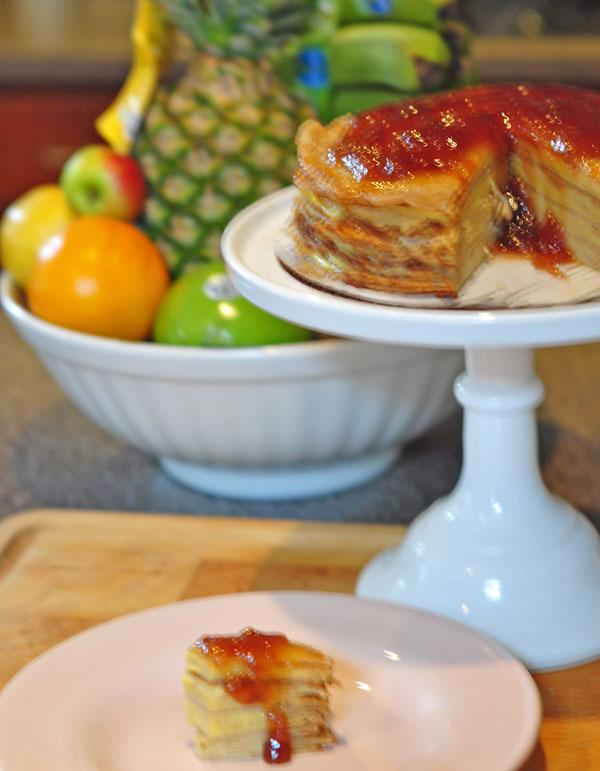 Raspberry-creme-brule-crepe-cake