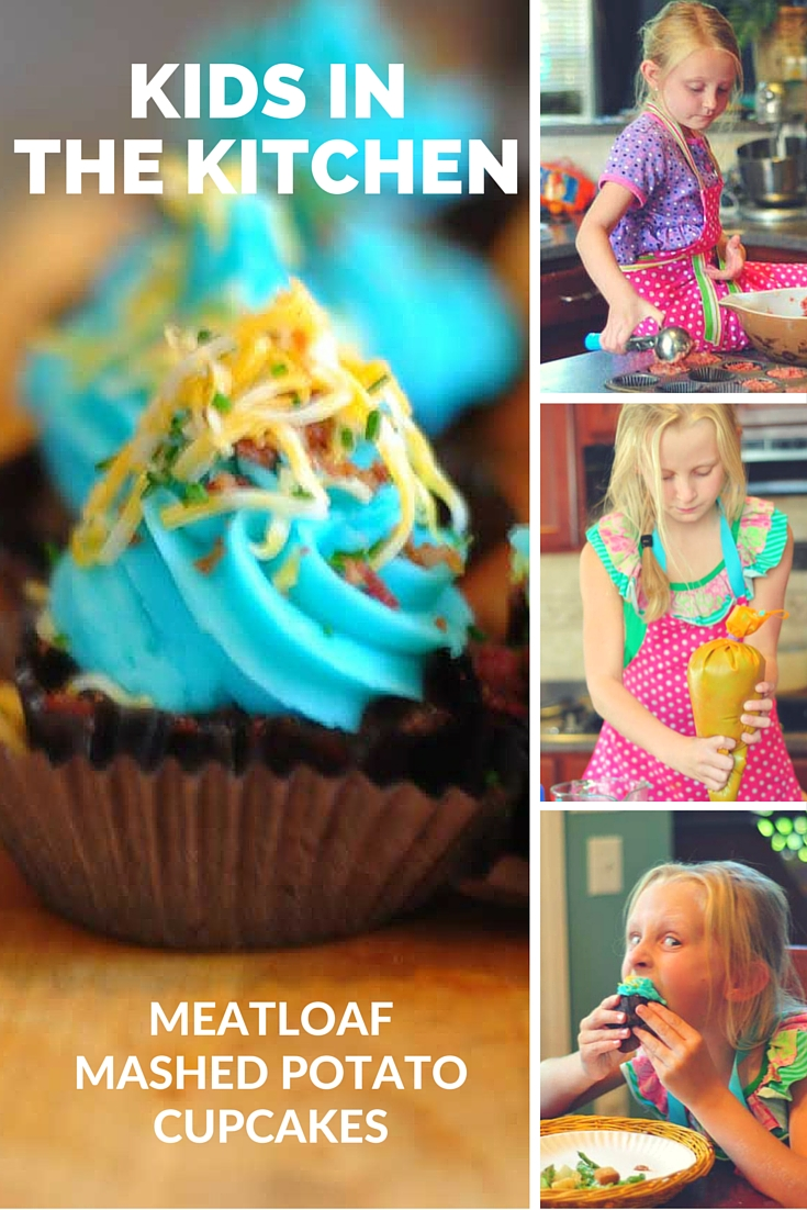 Kids in the Kitchen meatloaf mashed potato cupcakes