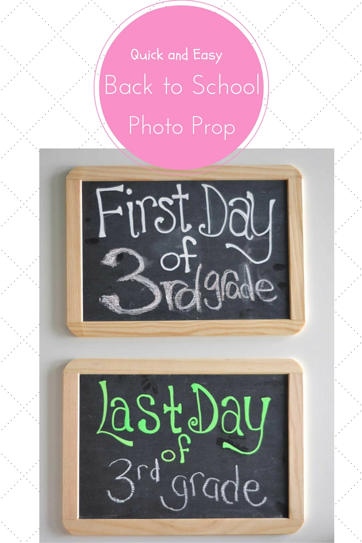 Quick and Easy Chalkboard first day of school