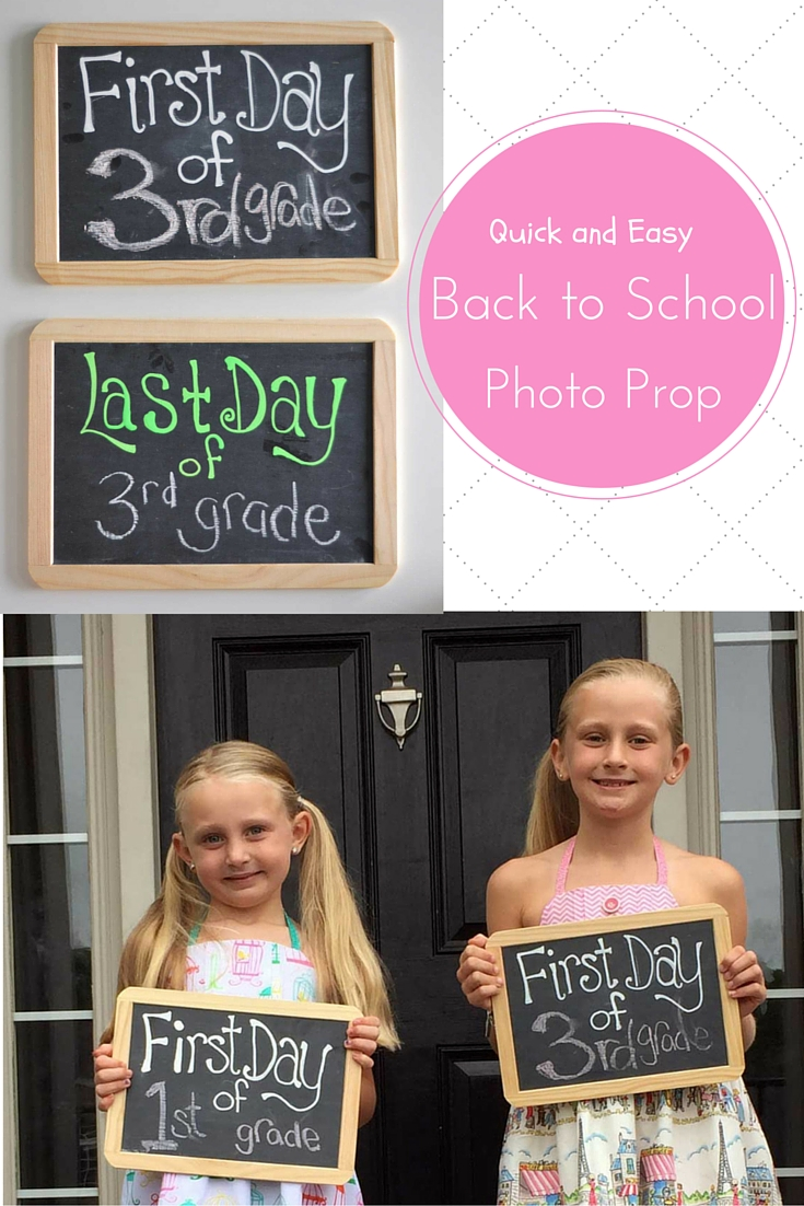 quick and easy back to school photo prop