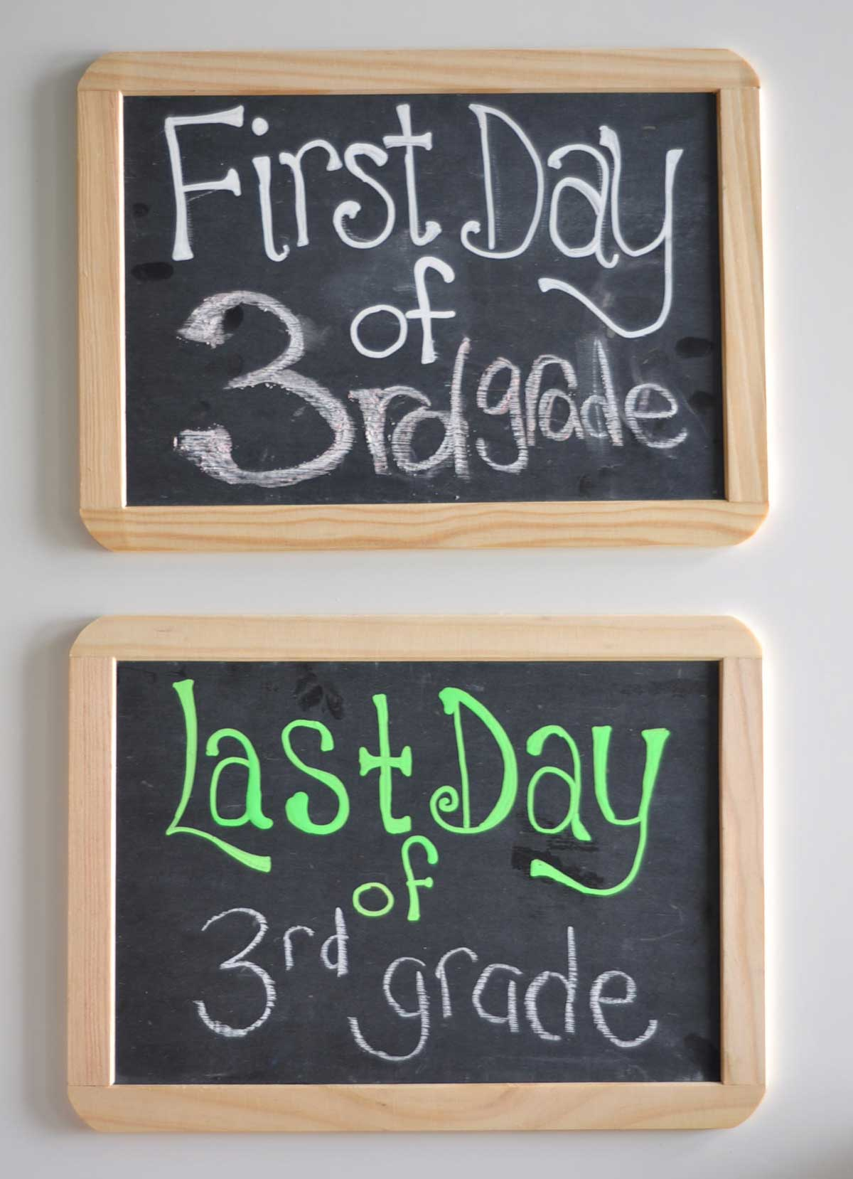 first and last day chalkboard