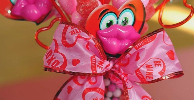 Valentine Candy Arrangement